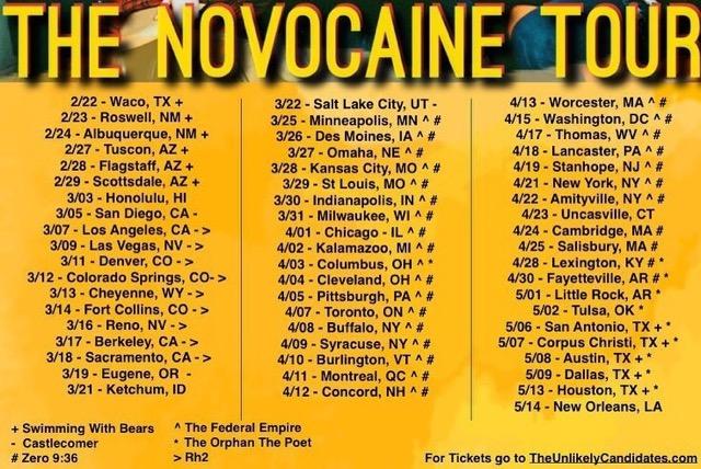 TUC NOVOCAINE TOUR